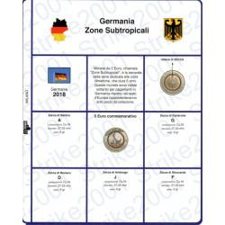 Kit Foglio 5 Euro Comm. Bimetallico Germania 2018