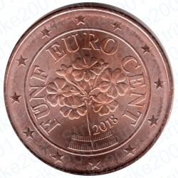 Austria 2018 - 5 Cent. FDC