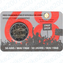 Belgio - 2€ Comm. 2018 FDC Rivolta Studentesca (Francia) in Folder