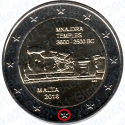 Malta - 2€ Comm. 2018 FDC Templi Mnajdra - Zecca Francia