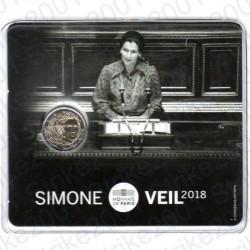 Francia - 2€ Comm. 2018 FDC Simone Veil in Folder