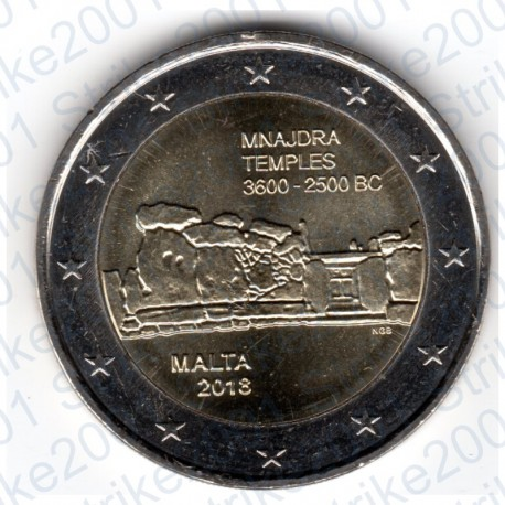 Malta - 2€ Comm. 2018 FDC Templi Mnajdra
