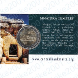Malta - 2€ Comm. 2018 Templi Mnajdra in Folder