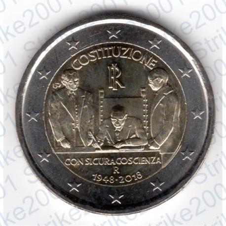 Italia - 2€ Comm. 2018 FDC 70° Costituzione Italiana