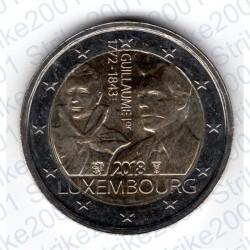 Lussemburgo - 2€ Comm. 2018 FDC 175° morte Granduca Guglielmo I