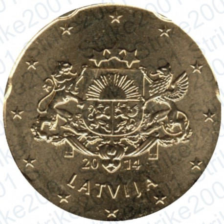 Lettonia 2014 - 20 Cent. FDC