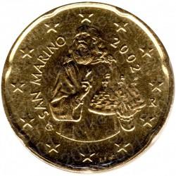 San Marino 2002 - 20 Cent. FDC
