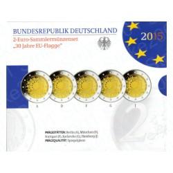 Germania - 2€ Comm. 5 Zecche 2015 FOLDER FS Bandiera