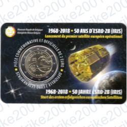 Belgio - 2€ Comm. 2018 FDC 50° lancio satellite ESRO-2B (Francia) in Folder