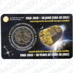 Belgio - 2€ Comm. 2018 FDC 50° lancio satellite ESRO-2B (Olanda) in Folder