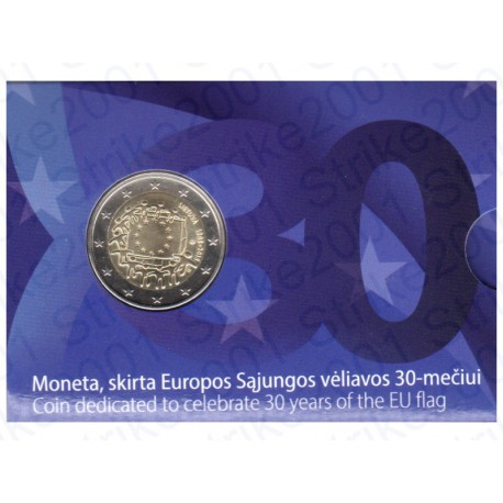 Lituania - 2€ Comm. 2015 30° Bandiera Europea FOLDER FDC