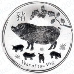Australia 1 Dollaro Argento Oncia 2019 Anno Lunare Maiale