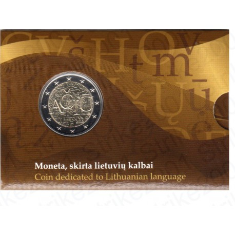 Lituania - 2€ Comm. 2015 FOLDER Lingua Lituana FDC