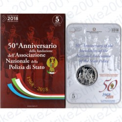 Italia - 5€ 2018 FDC 50° Polizia di Stato