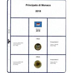 Kit Foglio 2 Euro e 1 Euro Monaco 2018