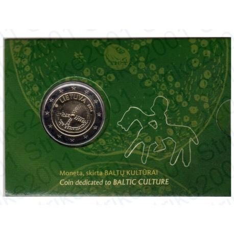 Lituania - 2€ Comm. 2016 FOLDER Cultura Baltica FDC