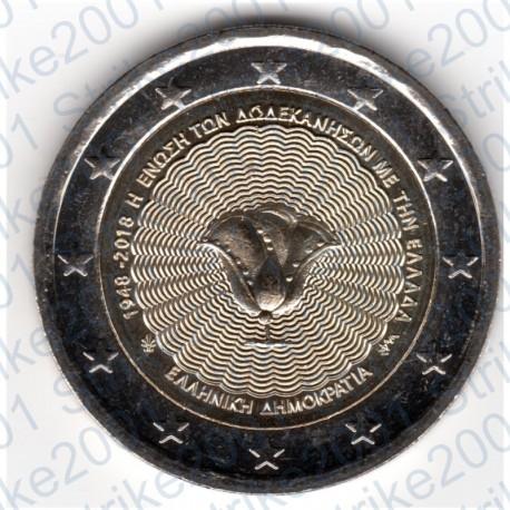 Grecia - 2€ Comm. 2018 FDC Isole Dodecaneso