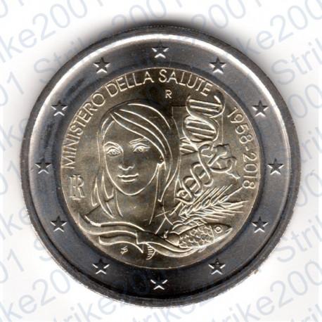 Italia - 2€ Comm. 2018 FDC 60° Ministero della Salute