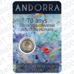 Andorra - 2€ Comm. 2018 FDC 70° Dichiarazione Diritti Umani
