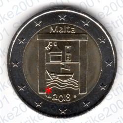 Malta - 2€ Comm. 2018 FDC Patrimonio Culturale - Cornucopia