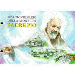 Vaticano - 2€ Comm. 2018 Padre Pio in busta Filatelica