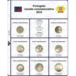 Kit Foglio 2,5 - 5 - 7,5 Euro Comm. Portogallo 2018