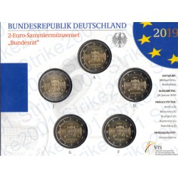 Germania - 2€ Comm. 5 Zecche 2019 FOLDER FDC Bundesrat