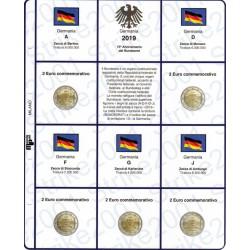 Kit Foglio 2€ Comm. 2019 Germania Bundesrat 5 Zecche