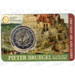 Belgio - 2€ Comm. 2019 FDC Pieter Bruegel  (Francia) in Folder