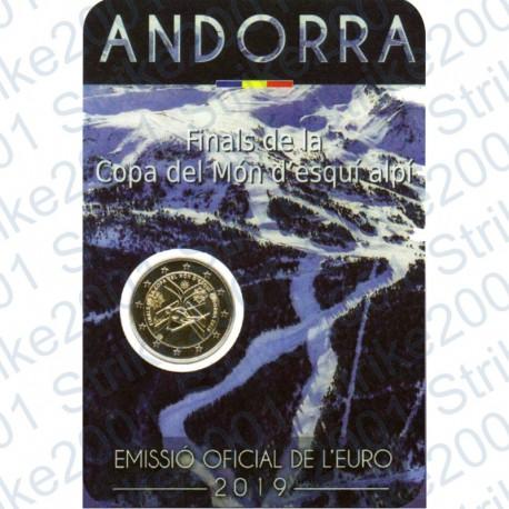 Andorra - 2€ Comm. 2019 FDC Coppa del Mondo Sci Alpino