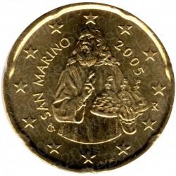 San Marino 2005 - 20 Cent. FDC