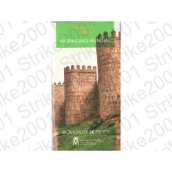 Spagna - 2€ Comm. 2019 FS Muraglia di Ávila in Folder
