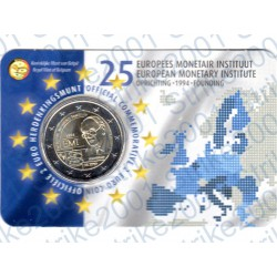 Belgio - 2€ Comm. 2019 FDC Istituto Monetario Europeo (Olanda) in Folder