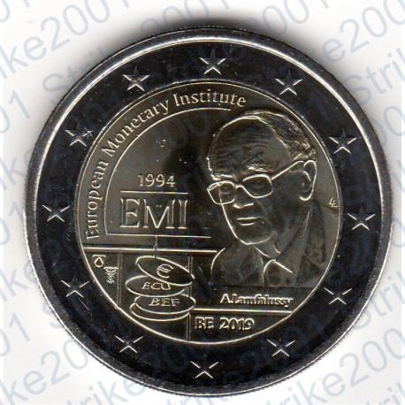 Belgio - 2€ Comm. 2019 FDC Istituto Monetario Europeo