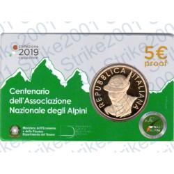 Italia - 5€ Comm. 2019 FS Centenario Associazione Alpini in Folder
