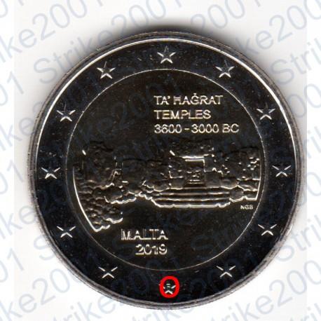 Malta - 2€ Comm. 2019 FDC Templi Ta Hagrat - Zecca Francia