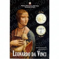 Italia - 2€ Comm. 2019 FDC Leonardo Da Vinci in Folder