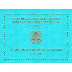 Vaticano - 2€ Comm. 2019 FDC 90° Fondazione Città Vaticano in Folder