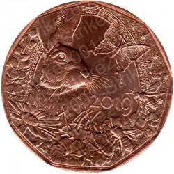 Austria - 5€ Rame 2019 FDC Coniglio di Pasqua