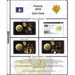 Kit Foglio Francia 2 Euro Comm. 2019 in folder Asterix