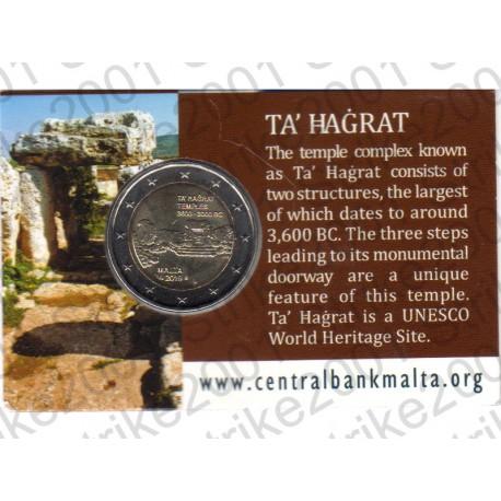 Malta - 2€ Comm. 2019 Templi Ta' Hagrat in Folder