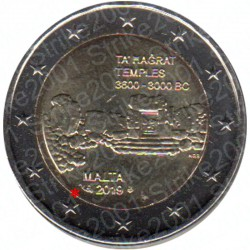 Malta - 2€ Comm. 2019 FDC Templi Ta Hagrat - Cornucopia