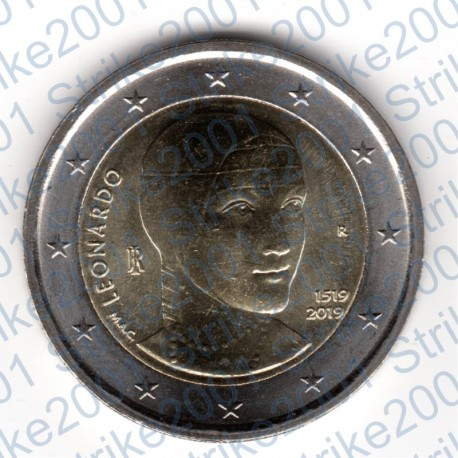 Italia - 2€ Comm. 2019 FDC Leonardo Da Vinci