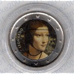 Italia - 2€ Comm. 2019 FDC Leonardo Da Vinci Colorato