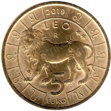 San Marino - 5€ 2019 FDC Zodiaco Leone - Leo