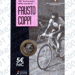 Italia - 5€ Comm. 2019 FDC Fausto Coppi