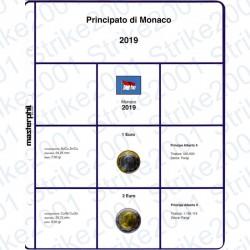 Kit Foglio 2 Euro e 1 Euro Monaco 2019