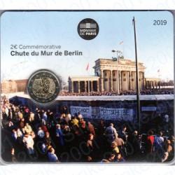 Francia - 2€ Comm. 2019 FDC Caduta Muro Berlino in Folder