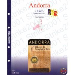 Kit Foglio Andorra 2 Euro Comm. 2019 in folder Consell de la Terra