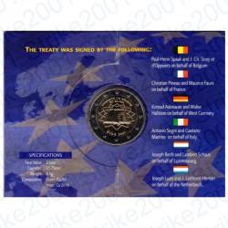 Irlanda - 2€ Comm. 2007 FDC Trattato Roma in Folder